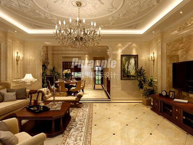 上海豪华别墅装修公司客厅装修设计