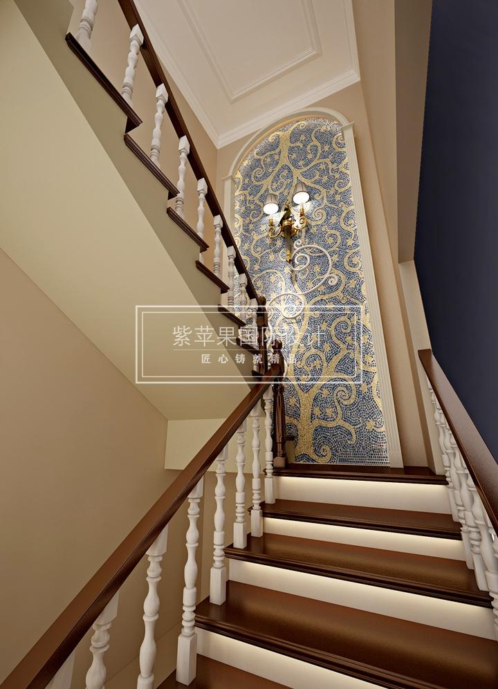 原来别墅楼梯装修还能这样-紫苹果国际设计-匠心铸就