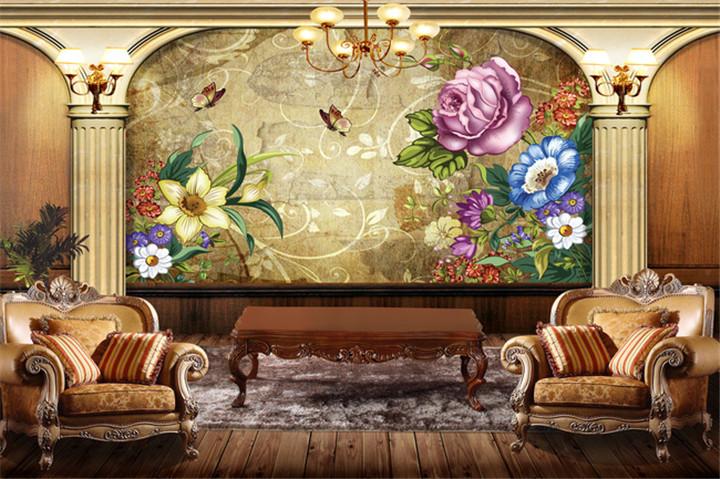 壁画   在欧式风格的家居空间里