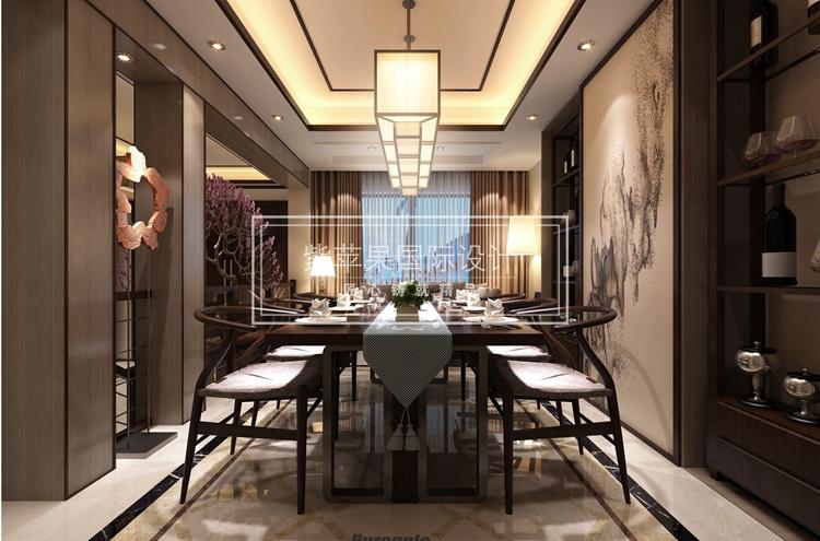 大美東方的別墅中式裝修設計