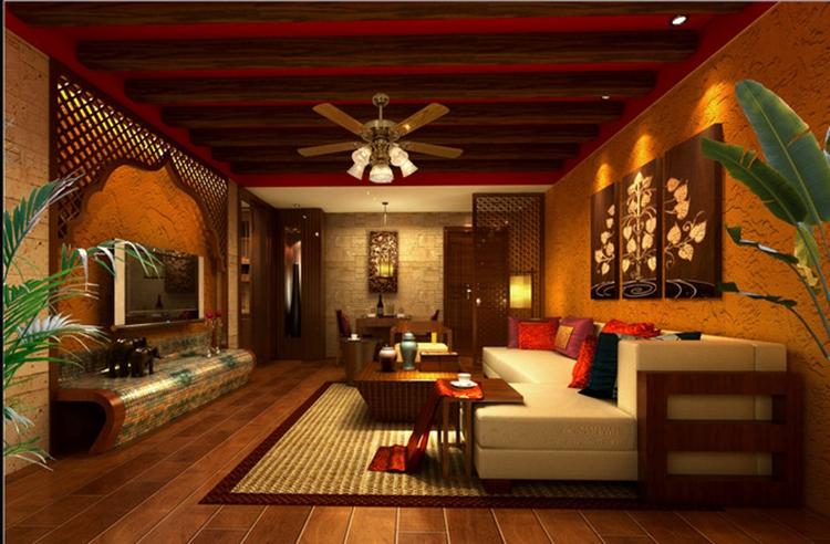 花纹,且相对平价;木条在东南亚风格设计中对应了木质