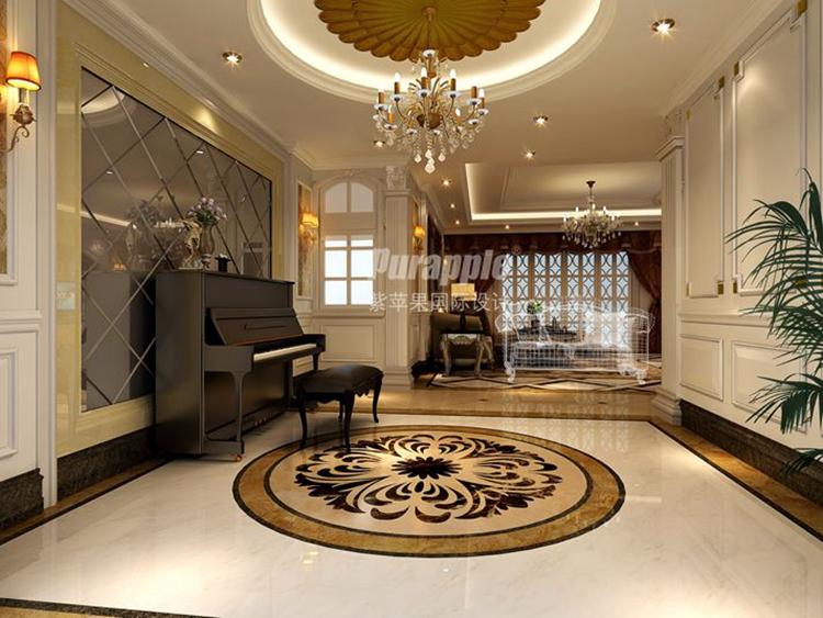 罗曼蒂克式法式风格别墅装饰-紫苹果国际设计-匠心