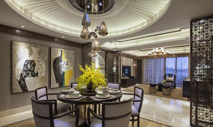 中式别墅餐厅设计,再现古典韵味