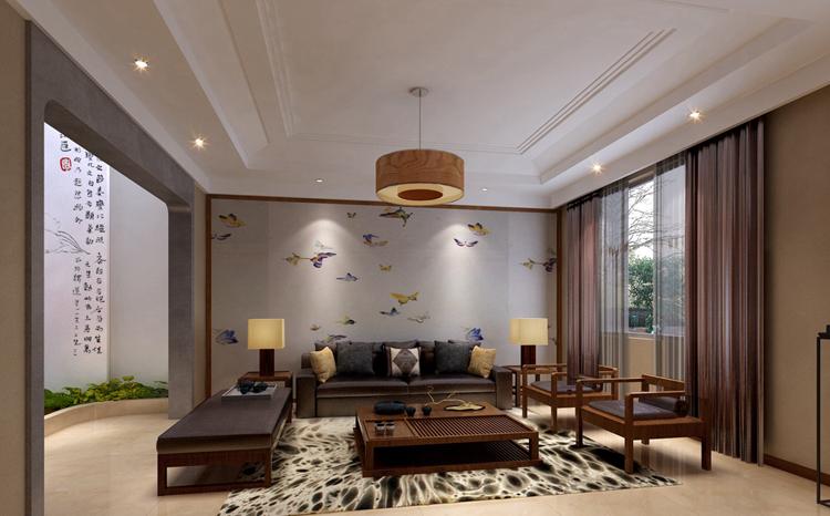 新中式别墅装修,是传统中国文化与现代时尚元素。在时间长河里的邂逅,以内敛沉稳的传统文化为出发点,融入现代设计语言,为现代空间注入凝练、唯美的中国古典情韵。新中式风格在设计上延续了明清时期家居配饰理念,提炼了其中经典元素并加以简化和丰富,在家具形态上更加简洁清秀,同时又打破了传统中式空间布局中等级、尊卑等文化思想,空间上也更为轻松自然。    新中式的起居室不只是豪华大气,更多的是意境和随意。将吊顶采用类黑胡桃木质收边,与白色的棚面结合更显精致,在家具的配色方面,也大胆地采用了非常跳跃的颜色配合中式古典