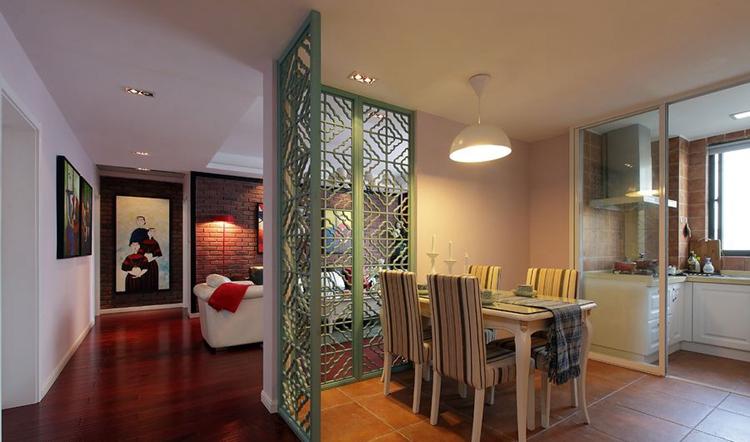 100平米户型室内装修效果图-紫苹果国际设计