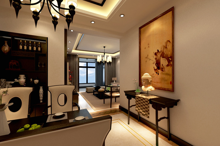 现代中式风格经历了多个时期的变动和更改,在色彩上吸收了现代简约风格简洁轻快的特点,在室内结构上精简了中式太过古板的设计,是的现代中式家居风格设计发生了脱胎换骨的变化,那么现代家居100平米房子装修现代中式风格会发生什么奇妙的事情呢?一起来看看由上海紫苹果别墅装修公司分享的中式100平米房子装修效果图吧。  任何一种装饰风格都讲究搭配,中式风格的装修比较注重古色古香的基调,讲究配饰和家具中式特色的搭配。   同时也要适当地融入进现代的元素和气息,这一点体现在家具和装饰上面,现代中式在设计时应该考虑近更多的包