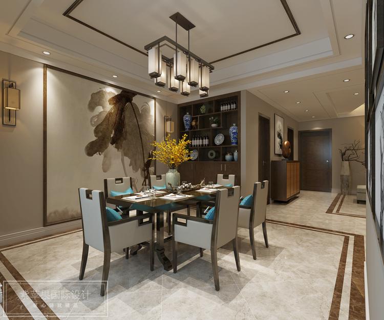 简中风格150平复式房装修,典雅之作-紫苹果国际设计