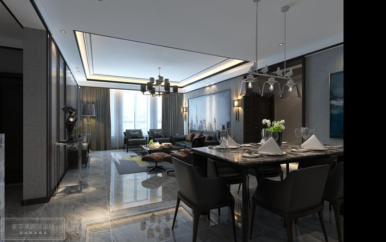 150平米现代简约风格装修,高级灰的极致格调