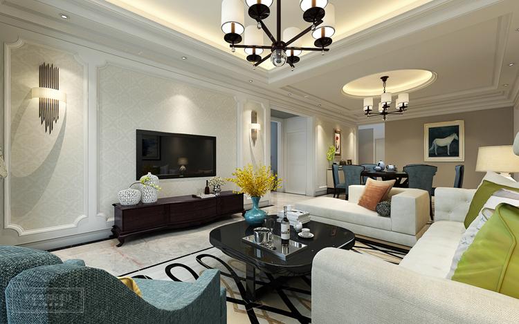 房型 :平层 风格 :简欧 面积 :140平米 主要物料:全抛釉地砖、乳胶漆、石材、木地板、墙纸等  这套风格主要采用的是简约欧式风格,和笔者在前面几期介绍的案例呢,都是来自同一个设计师的作品。案例最大的亮点就在于设计师对于欧式整体节奏的把握,对家居生活的准确定位,下面跟随上海紫苹果别墅装修公司一起来看看这套140平米简欧风格装修吧。