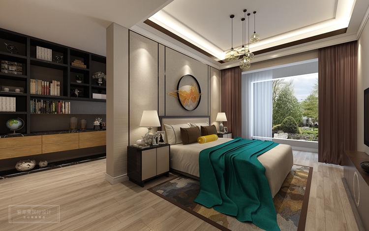 220平米新中式风格装修案例-紫苹果国际设计-匠心铸就