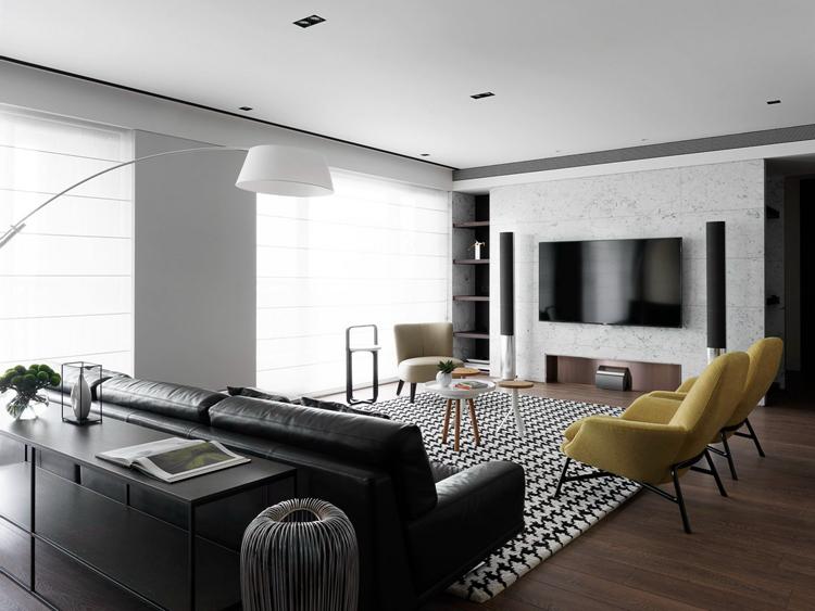 现代风格220平米装修,重现经典黑白灰空间
