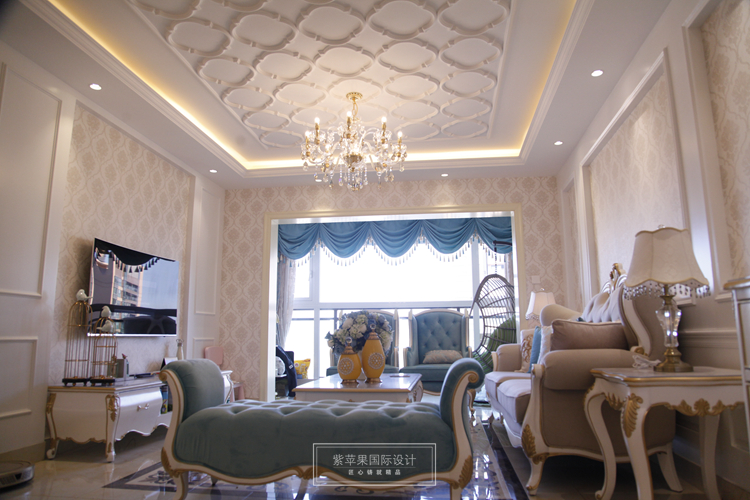 上海装修公司100平欧式实景案例