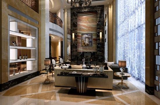 在房屋装修设计中,有一些为了迎合现代新时期的审美需求应运而生的新式房屋装修风格现代奢华主义。它与古典奢华主义相比较来说,更符合现代人的审美需求,不比古典奢华主义色彩厚重。下面让我们来见识一下上海叠加别墅装修设计中的现代奢华主义风格吧!  在豪华别墅装修设计中,卧室装修设计是最能看出房屋主人喜好的地方,因为在整套房子里,卧室是身处时间最长的一间。