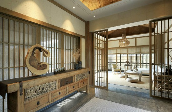 上海豪宅别墅装修——简约中式风