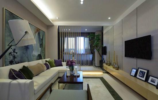 上海150平米簡約后現代風格裝修設計——抽象主義代言