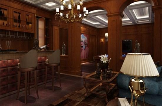 餐厅与卧室均选用深咖色作为基本色调,在柔和的灯光之下,将色彩显得更加具有光泽,也更加体现了房间整体的高雅与宁静,独有一份闲逸平静的心境。  欢迎咨询上海专业的别墅装修设计公司紫苹果国际设计。这里有专业的房屋装修设计师,倾听您的需求,想您所想,为您量身定制一套独属于您的房屋装修设计。
