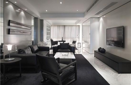 时尚大气的黑白色装修风格设计