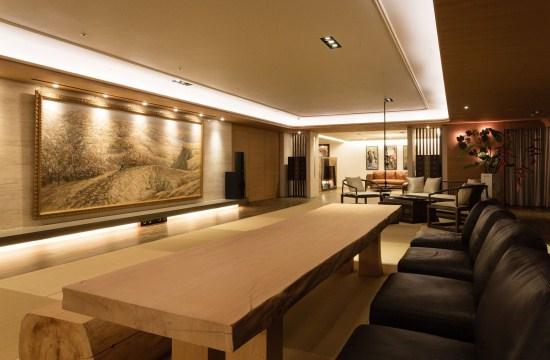 简约中式的上海金桥别墅装修