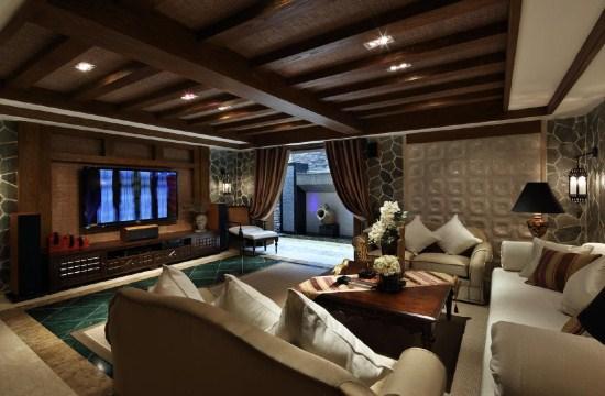 复古雅致的上海豪宅别墅装潢设计