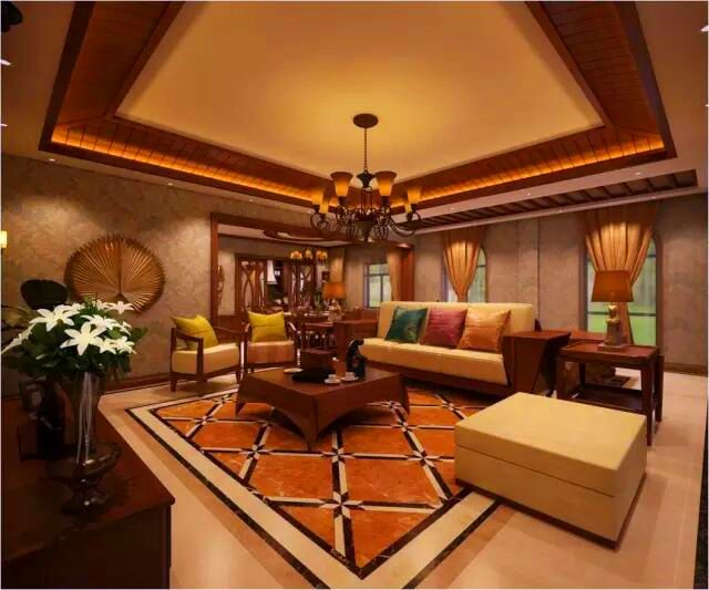 上海别墅大厅装修效果图图片